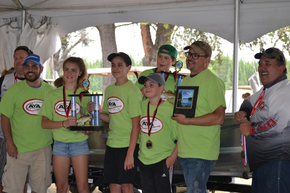 First place - Team Labine. Captain John Labine; Ada Dagg Labine, age 14; Nolan Dagg Labine, age 11. David W. Reid for TimminsToday