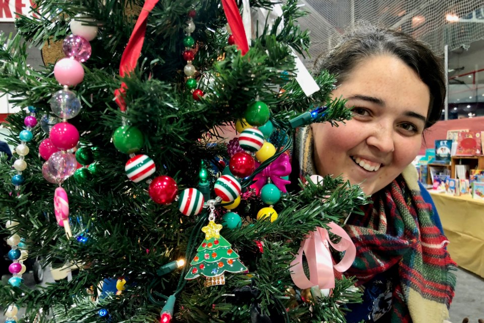 Amanda Beamish of Fanciful Fox is selling her handmade necklaces at the Schumacher Lions Club's 17th Annual Christmas Craft and Gift Show. Maija Hoggett/TimminsToday