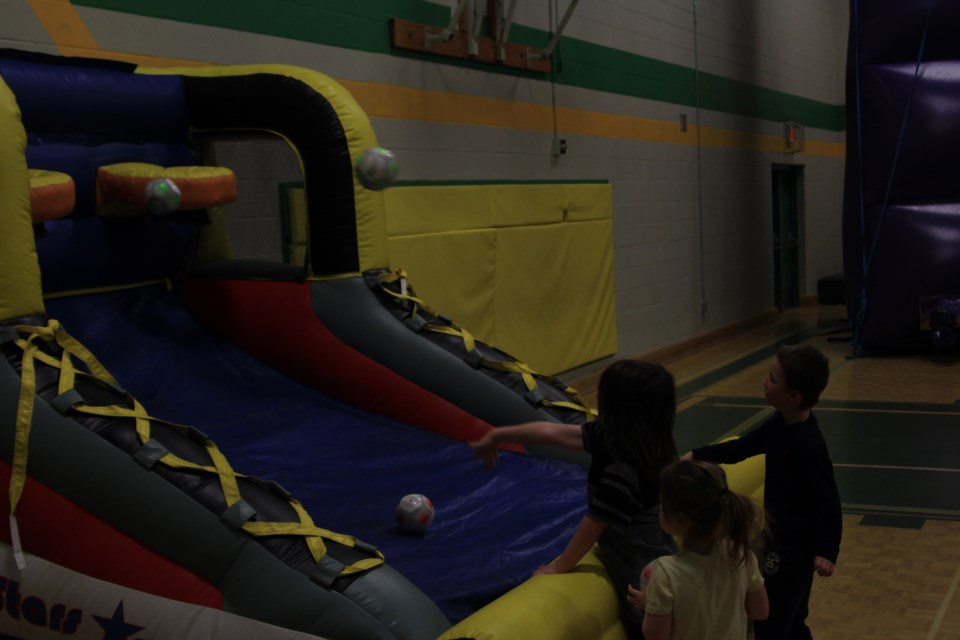 Bouncy rides are set up at Roland Michener Secondary School for the annual South Porcupine Winter Carnival. The activities are on again today from 10 a.m. to 4 p.m. There are also kids' activities at the scout hall from noon to 4 p.m. The fun caps off tonight with the closing ceremonies at Maurice Landry Community Centre and the fireworks at 7 p.m. Devon Mahon for TimminsToday