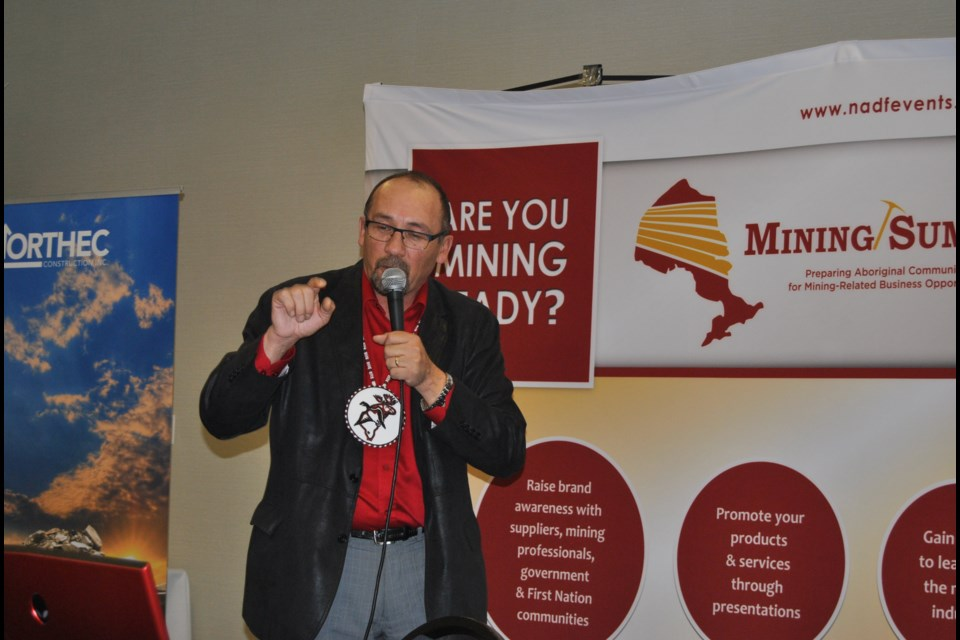 Grand Chief Jonathan Solomon from Mushkegowuk Council says the signers of Treaty 9 never surrendered traditional lands. Frank Giorno for Timminstoday.com