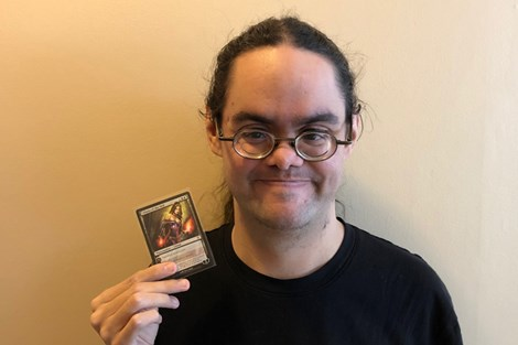 Renee Boucher is a gamer whose wide repertoire of games includes the trading card game Magic: The Gathering.