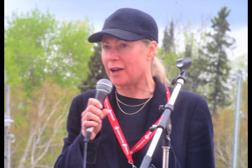 Judy Baker addressing the Grand Opening of the 2017 Canadian Mining Expo in Timmins, Ontario. Frank Giorno for TimminsToday.