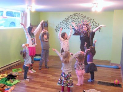 Yoga fun with Christina Budd