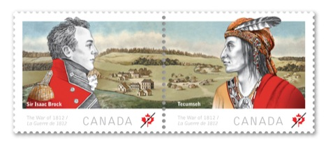 A first look at Canada Post's War of 1812 stamps - SooToday com