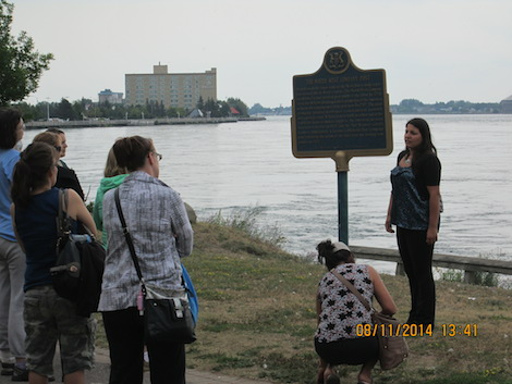 A tour takes place along the St. Mary's River.