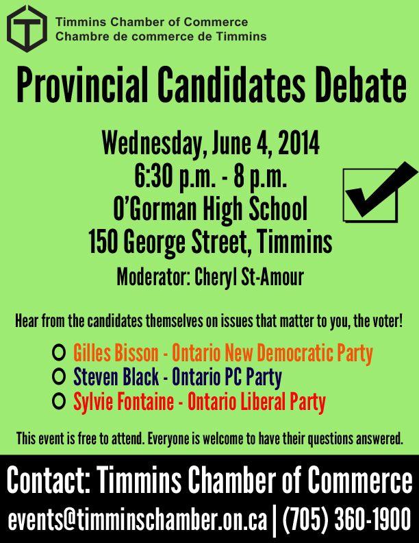 Provincial Candidate Debate